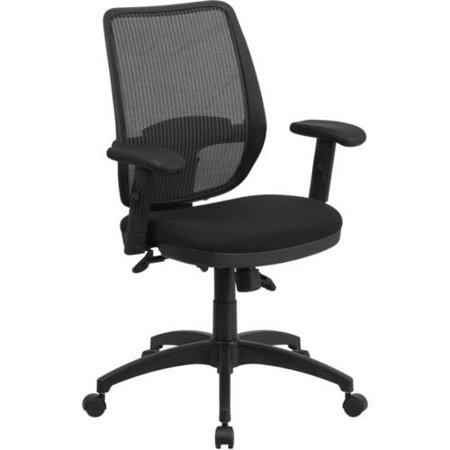 Flash Furniture Mid-Back Mesh Executive Swivel Office Chair with Adjustable Lumbar Support