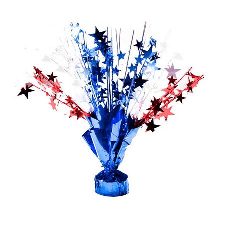 Fourth Of July Centerpieces (Patriotic Gleam 'N Burst Centerpiece 15in.)