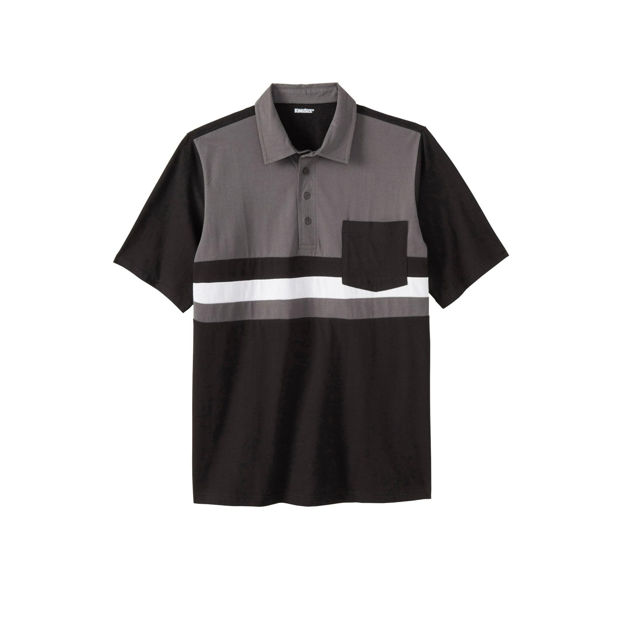 KingSize Men's Big & Tall Lightweight Pocket Golf Polo Shirt - Walmart.com