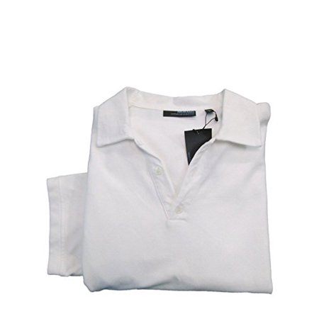 Murano Wardrobe Essentials Whiteness S S Faux 3 Button V Neck Polo Shirt Large