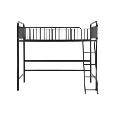 Better homes & gardens kelsey twin metal loft bed, multiple colors