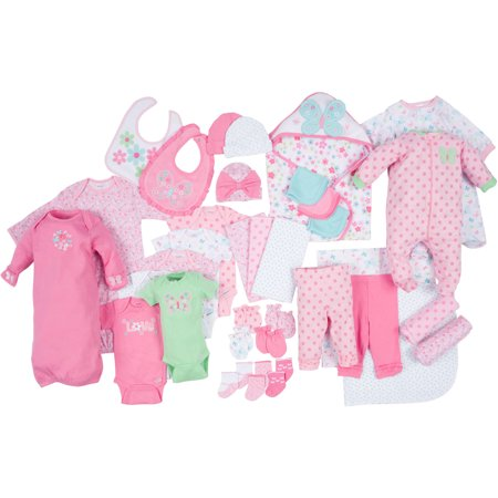 gerber newborn baby girl perfect baby shower gift 33 piece layette set