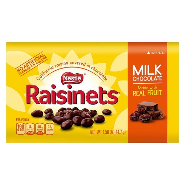 NESTLY Nestle Milk Chocolate Raisinets 1.58 oz Packages -...