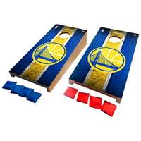 Golden State Warriors Desktop Vintage Cornhole Game Set - No Size