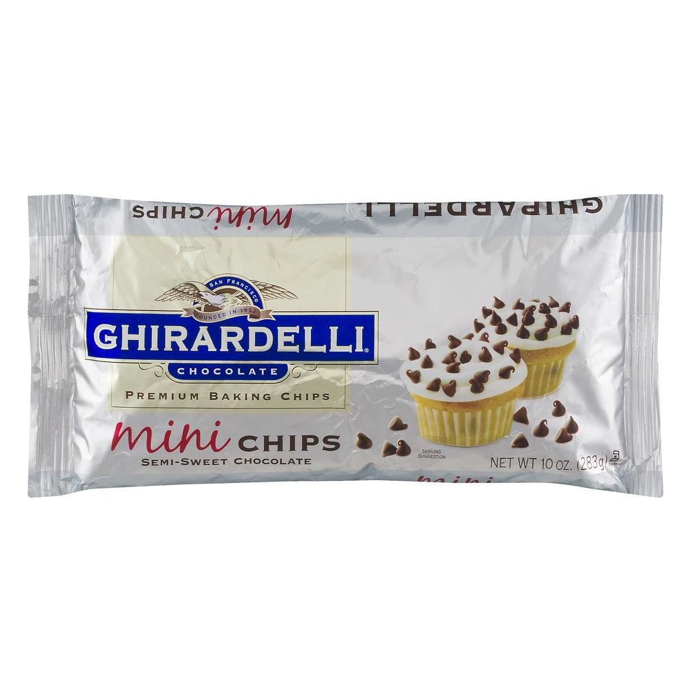 Ghirardelli Chocolate Premium Baking Chips Mini Semi-Sweet Chocolate, 10.0 OZ by Ghirardelli Chocolate Company