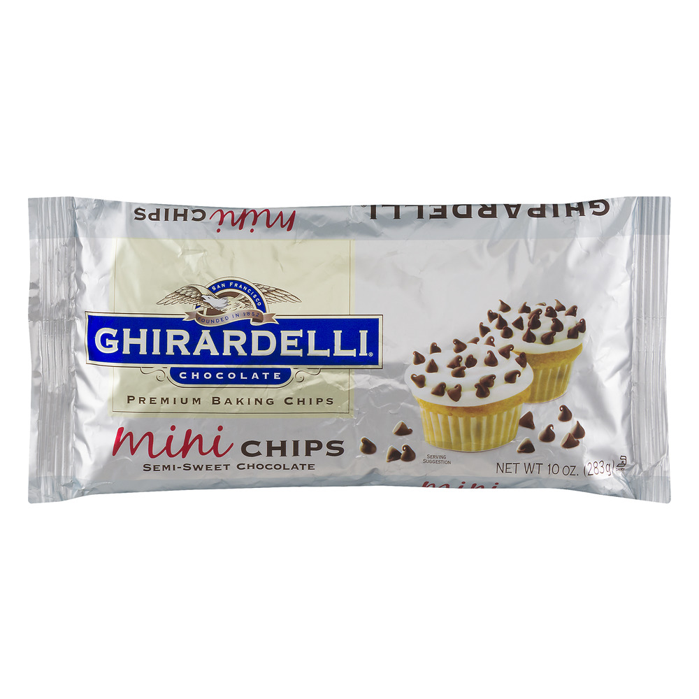 Ghirardelli Chocolate Premium Baking Chips Mini Semi-Sweet Chocolate, 10.0 OZ
