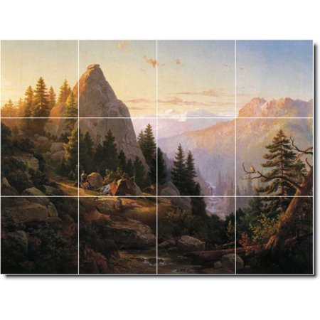 Ceramic Tile Mural Thomas Hill Landscapes Painting 513 24 w x 18 h us