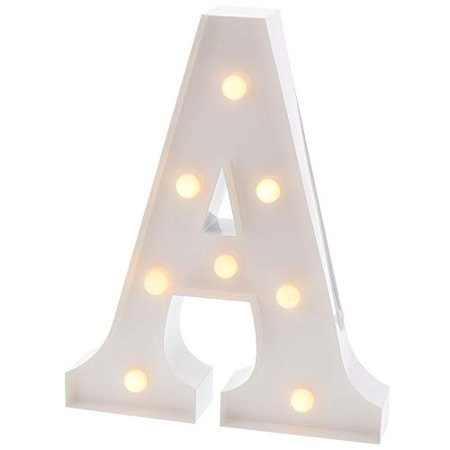 Barnyard Designs Metal Marquee Letter A Light Up Wall Initial Wedding, Bar, Home and Nursery Letter Decoration 12