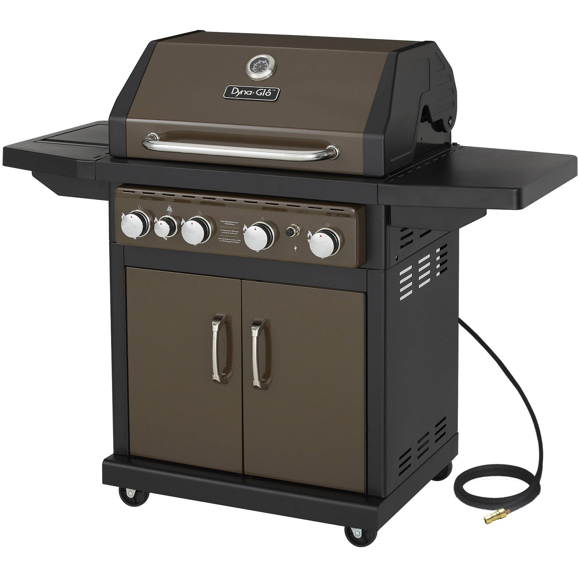 Dyna-Glo DGA480BSN 4-Burner Bronze Natural Gas Grill by GHP Group