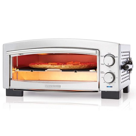 BLACK+DECKER P300S 5-Minute Pizza Oven & Snack Maker, Toaster Oven, Stainless Steel,