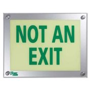SAFE GLOW Not An Exit Sign,9-11/32 X 12-5/32In,Grn, NAE-06G-FS