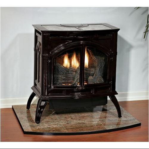 Heritage Cast Iron Porcelain Black Stove VFD30CC70BN Natural Gas by