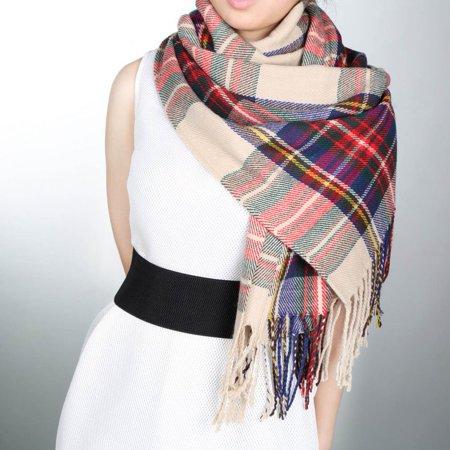 Blanket Oversized Tartan Scarf Plaid Checked Wrap Shawl Bloggers Favourite