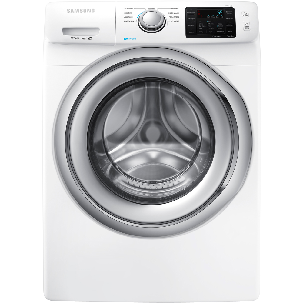 "Samsung  WF42H5200AW 27"" Wide 4.2 cu. ft. Energy Star Rated Front Load Washer with 1200 RPM's  4 Motor Speeds  Steam"