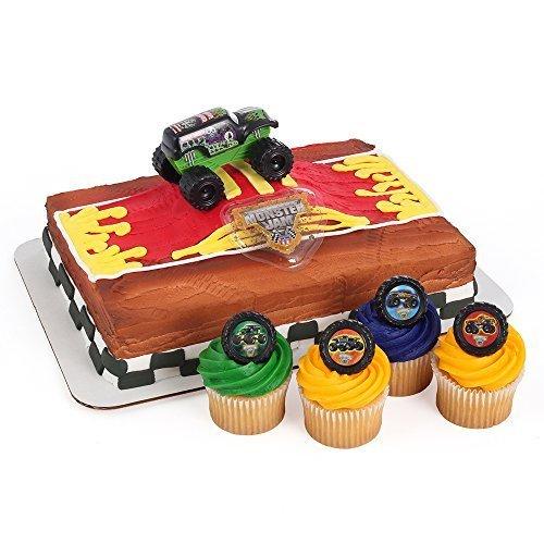 Monster Jam Officially Licensed Cake Topper And 24 Cupcake Topper Rings Walmart Com Walmart Com