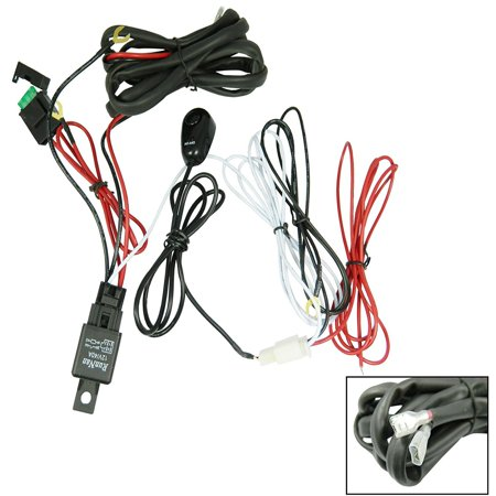 xotic tech universal fit relay wiring harness kit with led. Black Bedroom Furniture Sets. Home Design Ideas