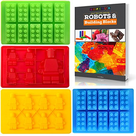 Best Candy Molds   Ice Cube Mold For Lego Lovers With Bonus Recipe Ebook By Americas Best Buys  4 Pack