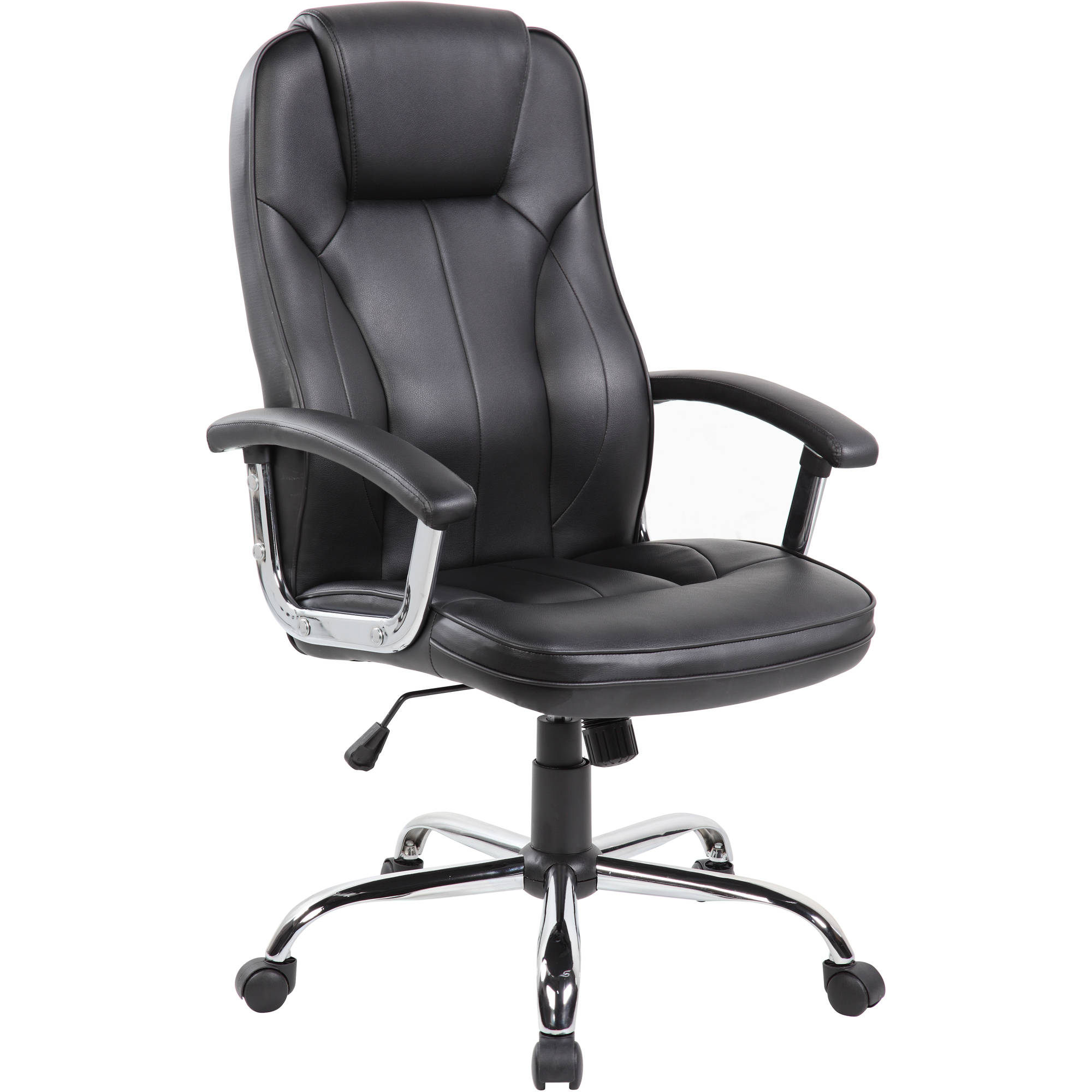 Executive High Back PU Leather Office Task Chair with Chrome Base(9313), Multiple Colors
