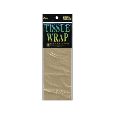 CIN86 47 CINDUS TISSUE WRAP 20X20 4PC SOLID METALLIC GOLD (Rose Gold Tissue Paper)
