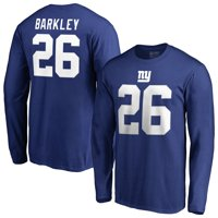 Saquon Barkley New York Giants NFL Pro Line by Fanatics Branded Team Authentic Stack Name & Number Long Sleeve T-Shirt -