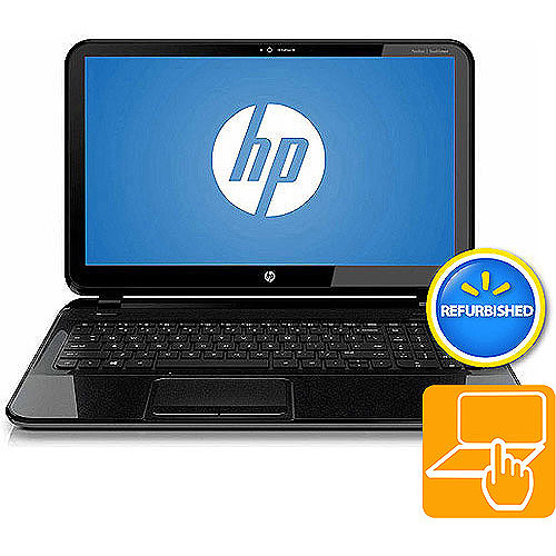 "HP Refurbished Sparkling Black 15.6"" Pavilion TouchSmart 15-b129wm Laptop PC with AMD A6-4455M Accelerated Processor, 4GB Memory, Touchscreen, 500GB Hard Drive and Windows 8"