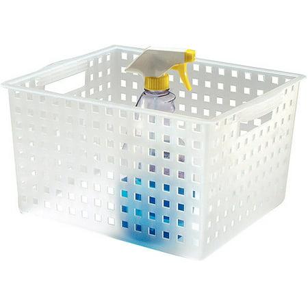 InterDesign Modulon Household Storage Basket for Office, Garage, Bathroom and more, 14.2