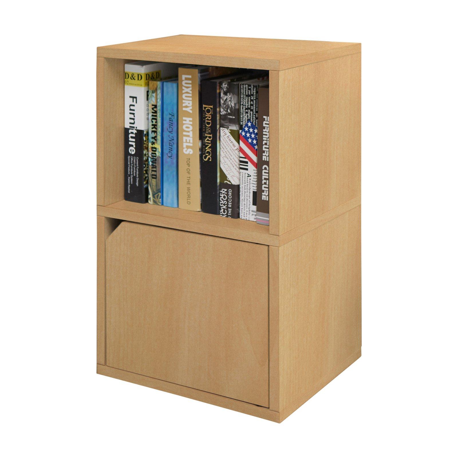 Way Basics Eco Friendly Modular Under Desk Bookcase with Door