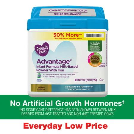 Parent's Choice Advantage® Non-GMO* Infant Formula Powder, 35 (Whats The Best Formula For Newborns)