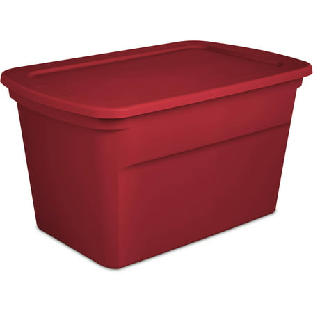 Sterilite 30-Gallon Tote Box, Infra Red (Available in Case of 6 or Single Unit)