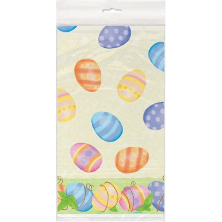 Easter Tablecloth (Plastic Spring Easter Table Cover, 84