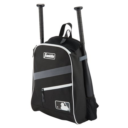 Franklin Sports MLB Performance Youth Baseball Backpack, Black