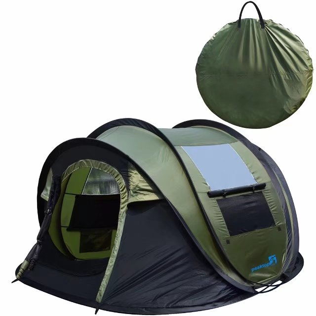 Peaktop Automatic Instant Pop up C&ing Tent 4 Person Waterproof Portable Dome tent - with  sc 1 st  Walmart.com & Peaktop Automatic Instant Pop up Camping Tent 4 Person Waterproof ...