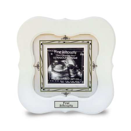 First Silhouette Ultrasound 3x3 Photo Frame - Ultrasound Photo