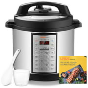 6 Quart Multi-use Pressure Cooker, 18-in-1 Programmable Rice cooker, Stainless inner cntainer