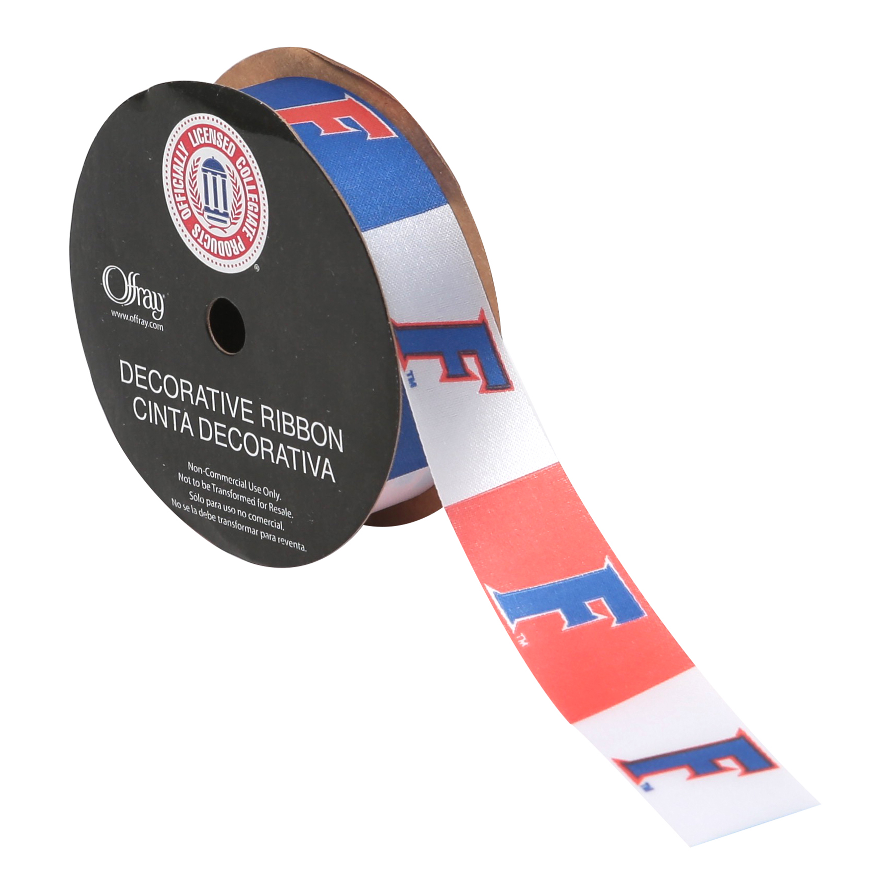 OFFRAY RIBBON FLORIDA GATORS CLC 7/8 INCHES x 9 FEET