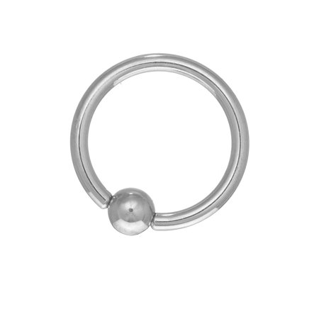 14k Gold Ball Closure Ring (14K Solid Gold Nipple Captive Ball Closure Bead Ring Body Jewelry 14mm)