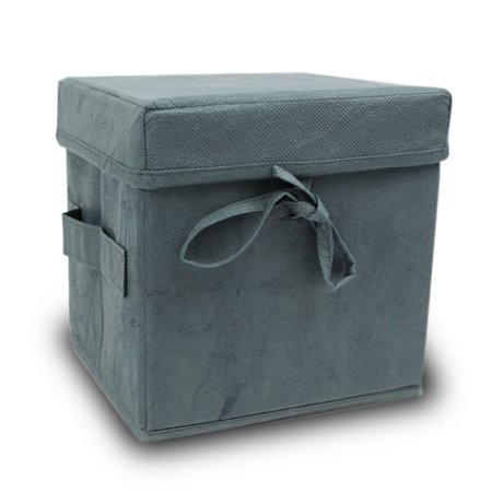Simplicity Biodegradable Urns - Slate Grey - Grey Fabric 200 Pounds Large (New Biodegradable Material)