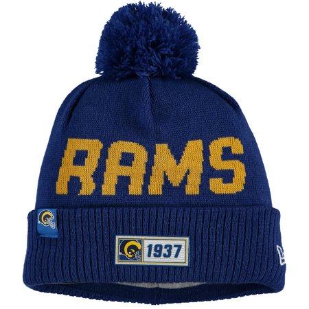 Los Angeles Rams New Era 2019 NFL Sideline Road Historic Helmet Logo Sport Knit Hat - Royal -