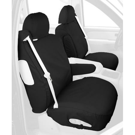 Covercraft Custom-Fit Front Bucket SeatSaver Seat Covers - Polycotton Fabric, Charcoal Black ()