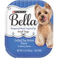 Purina Bella Grilled Top Sirloin Flavor in Savory Juices Adult Wet Dog Food Variety Pack 3.5 oz. Trays (12 Pack)