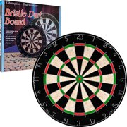 Bristle Dart Board, Tournament Sized Indoor Hanging Number Target Game for Steel Tip Darts- Dartboard with Mounting... by TRADEMARK GAMES INC