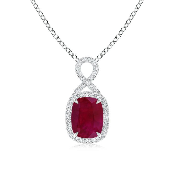 Angara Ruby Pendant Platinum - July Birthstone Necklace 3hksYEOE1