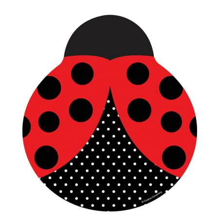 LadyBug Fancy Shaped Plates (8 Count)