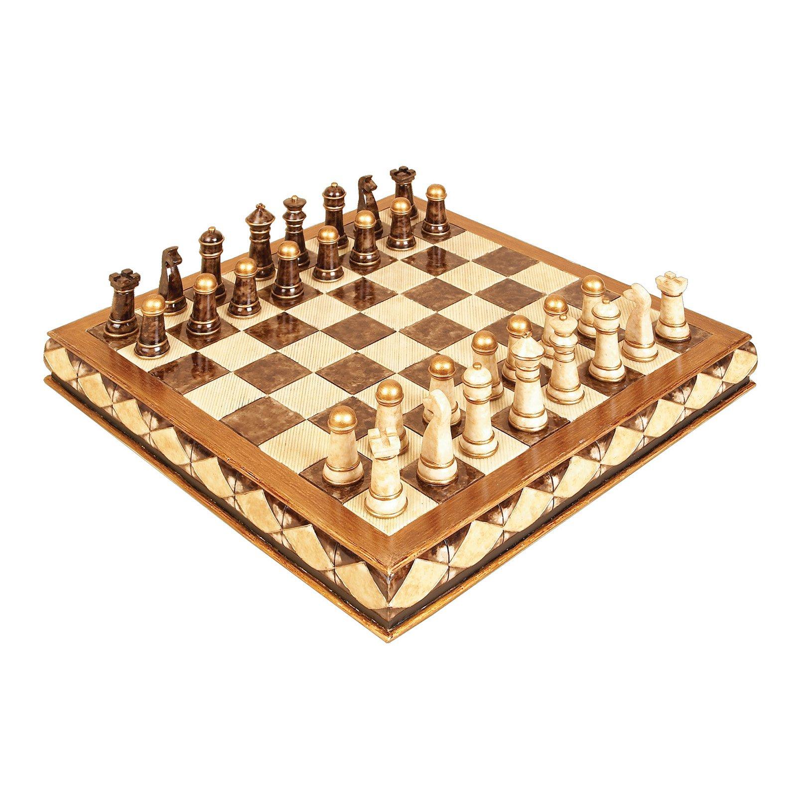 Polystone Chess Set Entertaining Decor by Benzara