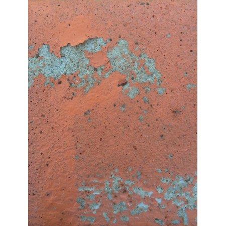 Canvas Print Cement Texture Orange Gray Concrete Rust Rough Stretched Canvas 10 x 14