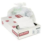 Jaguar Plastics Industrial Strength Commercial Trash Bags, 33gal, .9mil, White, 100/Carton