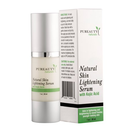 Skin Lightening Cream by Pureauty Naturals with Kojic Acid - Skin Whitening & Brightening Beauty Care Cream For Body, Face, Neck, Bikini, Sensitive Areas & All Skin Types - Dark Spot