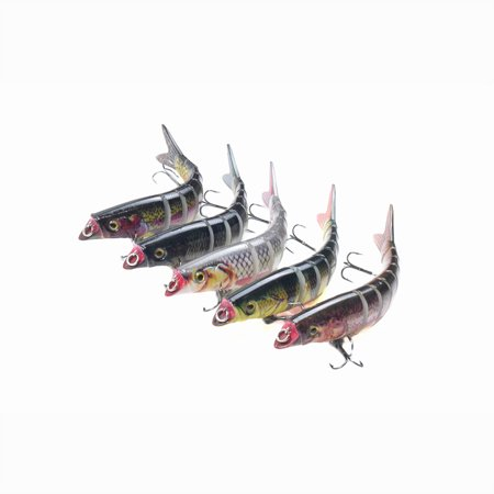 5.5in / 0.76oz Bionic Multi Jointed Hard Bait S Swimming Action Fishing Lure 8 Segment Sinking Fishing Lure VIB Bait Crankbait 3D Eyes Lifelike Artificial Fishing Lures Hook with Treble Hooks Tackle - image 5 of 7