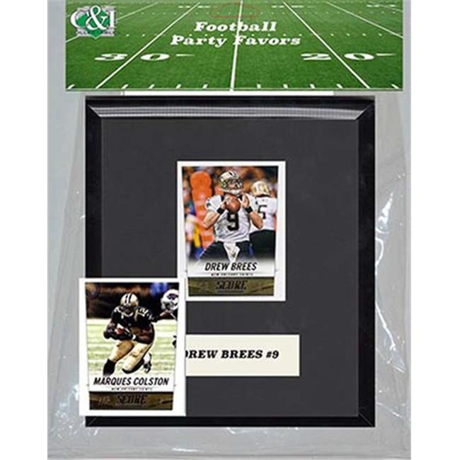 Candlcollectables 67LBSAINTS NFL New Orleans Saints Party Favor With 6 x 7 Mat and Frame