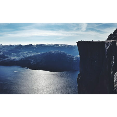 LAMINATED POSTER Outdoor Rock Norway Massive Fjord Travel Nature Poster Print 24 x 36